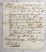 Nathaniel Peabody Revolutionary War 1784 Als Signed Letter Continental Congress
