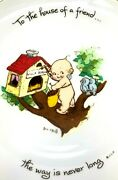 1973 Kewpie Doll Plate Collectors Edition To The House Of A Friend K18