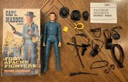 Marx Johnny West Fort Apache Fighters Vintage Captain Maddox With Box