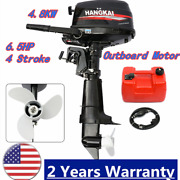 Hangkai 4-stroke 6.5hp Outboard Boat Engine Motor 123cc Water-cooled +cdi Usa