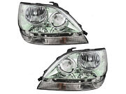 Replacement Headlights Headlamps For 01 - 03 Rx300 Chrome Left Right Set Capa