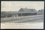 1908 Bayview Mi Usa Rppc Real Picture Postcard Cover Gr And Jrr Depot Petoskey