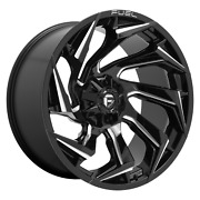 Fuel Off-road D753 Reaction 18x9 +1 Gloss Black Milled Wheel 8x170 Qty 4