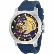 Menand039s Watch Specialty Japanese Automatic Blue Silicone Strap 31986