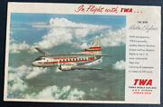 Mint Usa Color Picture Postcard Twa The New Martin Skyliner Trans World Airways