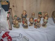 10 Hummels 60's 70's All Marked In Good Condition Figurines