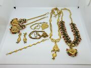 Gold-tone Bollywood Style Jewelry Lot