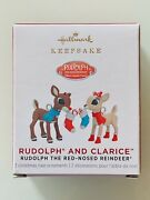 New 2021 Hallmark Keepsake Rudolph And Clarice Reindeer Mini Ornament Sold Out