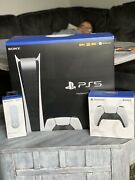 Sony Ps5 Digital Edition Console With Extra Controller And Media Remote