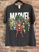 Vintage Marvel T Shirt Delta Pro Weight Size Large Big Front Hit All Characters