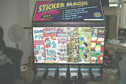 Sticker Vending Machine 6 Slot W/steel Base Included Are Many Stickers
