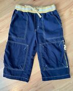 Mini Boden Boys Cargo Style Blue Shorts Size 8y Excellent Condition