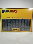 Mth Real Trax Graduated Trestle System Train Track Elevated Bridge Piers 40-1033