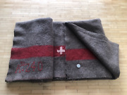 Wwii Swiss Army Wool Blanket Made In 1940