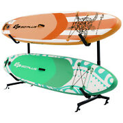 Heavy Duty Freestanding Kayak Rack Dual Storage Rack For Sup W/2 Removable Hooks