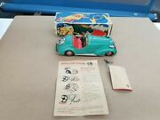 Vintage 1950and039s Distler Tin Bmw Roadster Convertibe Wind-up Works Boxed Nmib E4