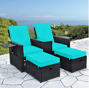 Outdoor Patio Furniture Couch Wicker Rattan Conversation Sofa Sectional Set Home