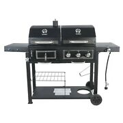 Revoace Dual Fuel Gas And Charcoal Combo Grill Black With Stainless