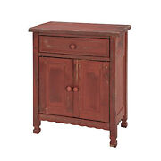 Bolton Furniture Country Cottage Accent Cabinet, Red Antique Finish