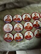 1960-61 Montreal Canadiens Shirriff Salada Complete Coin Set 21 - 40
