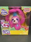 Nib Little Live Pets Rollo The Sloth - Bendable Arms, Movement, Reacts To Sounds