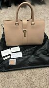 Yves Saint Laurent Large Beige Textured Leather Cabas Chyc Bag