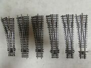 6 Peco Nickle/silver Lh Switch Turnouts Ho Scale Lot 75
