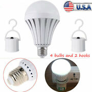 12 W Led Bulb 4 Pack Rechargeable Led Light Bulbs With Battery Backup Emergency