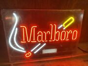 Marlboro Cigarettes And Match Smoke Neon Light Sign 21x15 Everbright Org Wrap