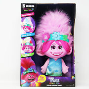 Dreamworks Trollstopia Color Poppin' Poppy Interactive Plush With 5modes, Lights