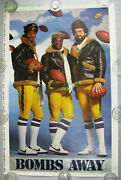 Nitf Untrimmed Recalled Vintage Nike Poster ☆ Bombs Away ☆ Dan Fouts ☆ Chargers