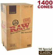 Raw 98mm Special Unbleached Pre Rolled Paper Cones 1400/box