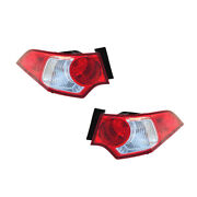 Tail Lights Rear Back Lamps Pair Set For 09-10 Acura Tsx Left And Right