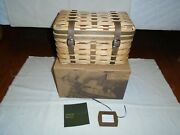 Longaberger Collectors Club Trunk Basket-fathers Day-fishing Basket-christmas