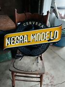 New Modelo Negra Cerveza Beer Light Up Sign Neon Made In Usa Lighted Bar Pub