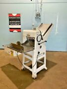 Oliver 797-32 Hduty Gravity Fed Andfrac12 Bread Slicer Machine With 1179 Swing Bagger