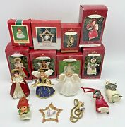 Hallmark Ornament Angel Lot Of 8 Madame Alexander, Language Of Flowers And 3 Other