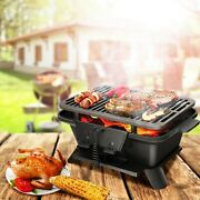 Charcoal Grill Stove Tabletop Cast Iron Brilliant Camping And Party Bbq Tool