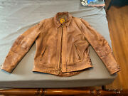 Schott Perfecto 585 Antique Brown Leather Motorcycle Jacket Size L