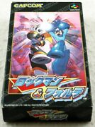 Rockman And Fortemega Mansuper Famicom Nintendo With Box And Manual Japan Import