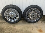 Harley Davidson Chrome Roulette Touring Wheels Tires And Front Brake Rotors