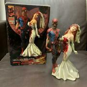 Used Marvel Zombie Spider-man And Mary Jane Statue Figure Only 2500 From Japan