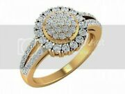 14k Yellow Hallmark Gold 0.94 Cts Certified Natural Ij/si Real Diamond 1974