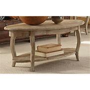 Rustic - Reclaimed Oval Coffee Table, Driftwood