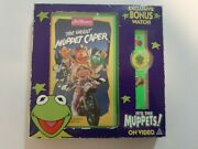 Vintage Jim Henson's The Great Muppet Caper Vhs Box Set With Watch