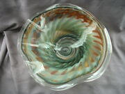 Shirley Elford Hand Blown Art Glass Extra Large Bowl Sculpture - One Of A Kind