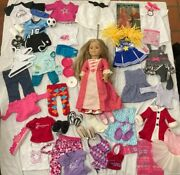 American Girl Elizabeth Doll 18 And Lot Extra Clothes - Virtually New