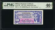 Series 591 Pmg Xf 40 Epq 10andcent Replacement Note Mpc Military Payment Certificate