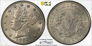 1886 Liberty V Nickel Pcgs Ms 62 Lustrous Brushed Nickel And Rather Mark Free