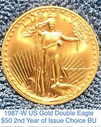 Gem 2nd Year Issue 1987-w St Gaudens Double Eagle Gold 50 1 Owner Estate